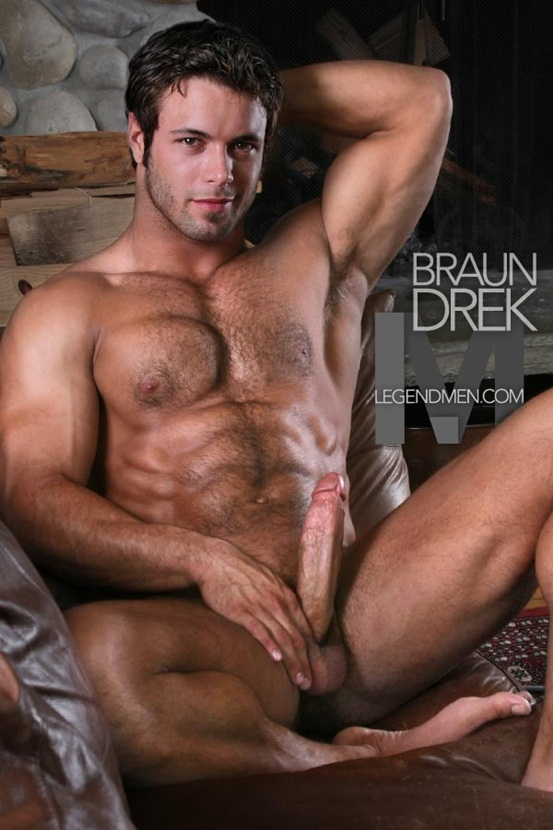 Legend Men Hot naked muscle hunks Braun Drek Ripped Muscle Bodybuilder Strips Naked and Strokes His Big Hard Cock photo Top 100 worlds sexiest naked muscle men at Legend Men (11 20)