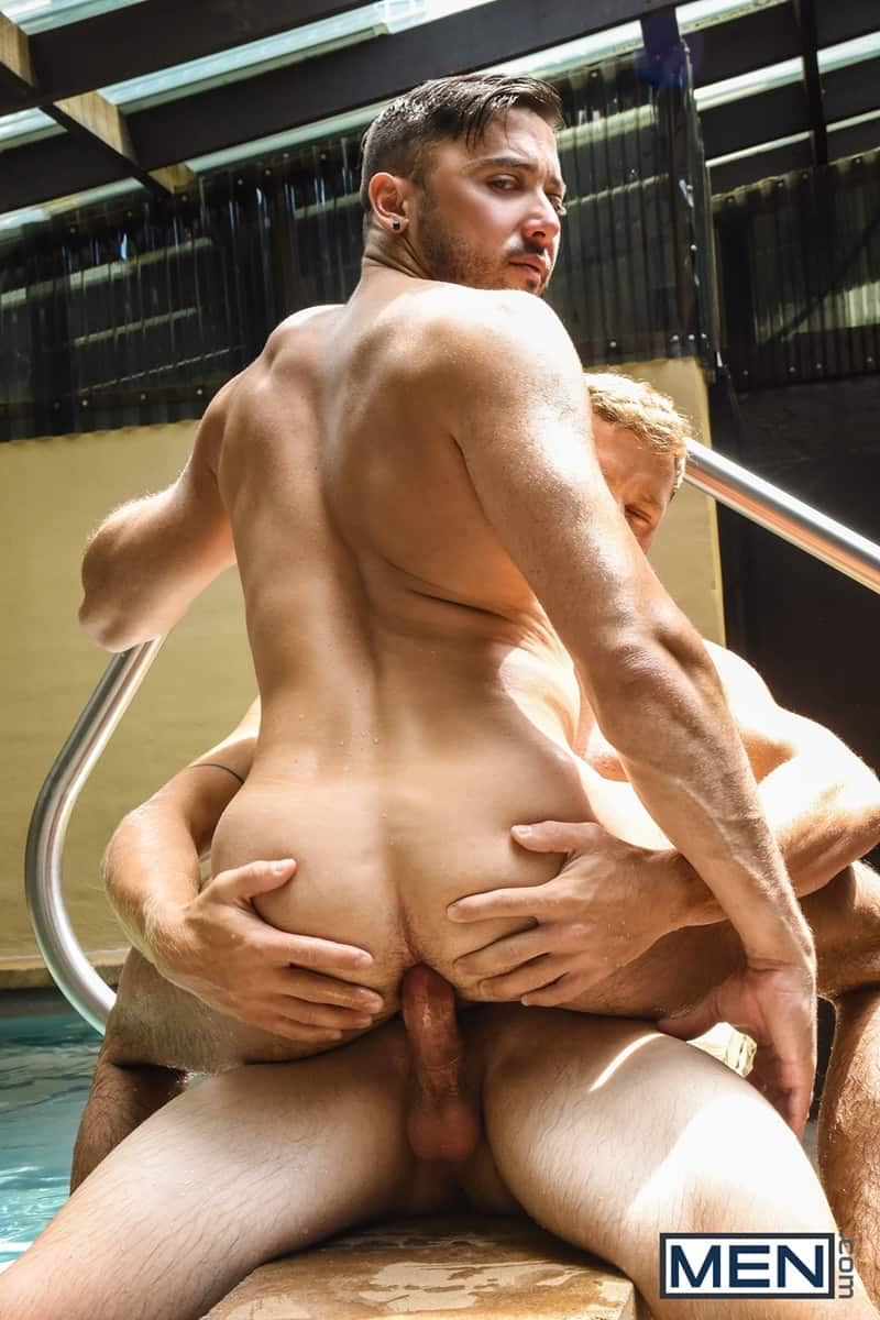 Men for Men Blog Justin-Matthews-and-Shane-Jackson-dildo-ass-play-Men-com-014-gay-porn-pics-gallery Justin Matthews is shocked to find Shane Jackson in the pool taking a huge dildo up his ass Men