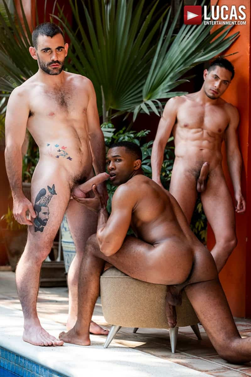 Men for Men Blog Ashton-Labruce-Sean-Xavier-Boy-Friend-Max-Arion-anal-fucked-huge-11-inch-cock-LucasEntertainment-012-gay-porn-pictures-gallery Ashton Labruce sits watching and stroking while BF Max Arion fucks black beauty Sean Xavier hot asshole Lucas Entertainment