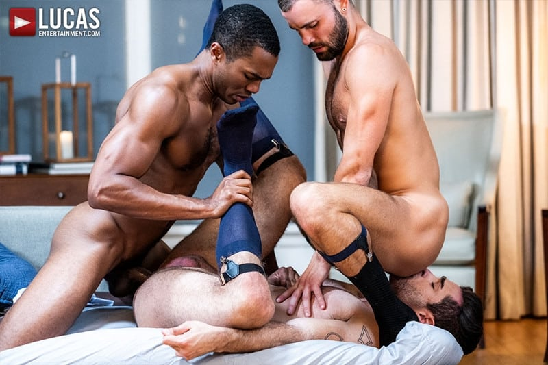 Men for Men Blog Sean-Xavier-Lucas-Leon-Jeffrey-Lloyd-Interracial-anal-fuck-suck-fest-big-cock-LucasEntertainment-023-gay-porn-pictures-gallery Interracial anal fuck and suck fest Sean Xavier and Lucas Leon persuade Jeffrey Lloyd to get his big beautiful cock out Lucas Entertainment