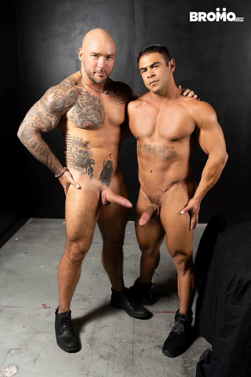 Men for Men Blog Gay-Porn-Pics-007-Jason-Collins-Draven-Navarro-Tattooed-muscle-beef-nipples-worship-hard-body-Bromo Tattooed and beefy Jason Collins loves playing with buff Draven Navarro's nipples and worshipping his hard body Bromo