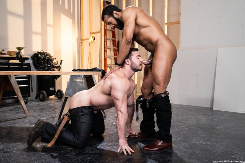 Men for Men Blog Gay-Porn-Pics-001-Derek-Bolt-Jay-Landford-naked-muscle-men-huge-cock-fucking-hot-asshole-RagingStallion Derek Bolt moans with each thrust from Jay Landford's huge cock pummeling his hot asshole Raging Stallion