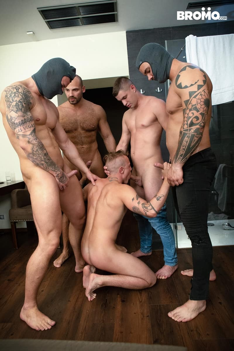 Bromo-Hot-naked-sub-dude-four-masked-men-bareback-fucking-ass-holes-010-gay-porn-pictures-gallery